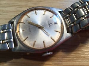 Omega cal 601 man's watch, works, nice order, stainless steel case,