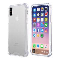 Für iPhone X Transparent Case Schutz Hülle Clear Cover Silikon Handyhülle