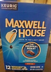 "maxwell house ""the original roast"" / medium /12 k-cups pods"