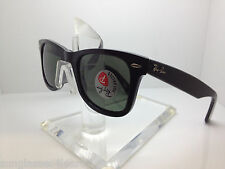 RAYBAN RB 2140F 901/58 BLACK/GREEN WIDE FIT POLARIZED RB2140  RAY BAN 52MM