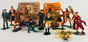 Warriors of the World by MARX -  Lot of 11 Vintage Figurines + 2 Boxes