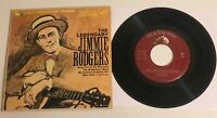 The Legendary Jimmie Rodgers / 4 songs  / RCA 1959 EP45 / VG+++