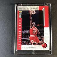 MICHAEL JORDAN 1997 UPPER DECK CC #JD1 JORDAN DYNASTY INSERT CARD BULLS NBA MJ
