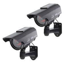 2x Solar Power Fake Camera CCTV Waterproof Realistic Dummy Security Cam Blinking