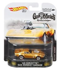 2018 Hot Wheels 1:64 Retro Entertainment '68 Corvette Gas Monkey Garage Diecast