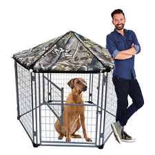 NeoCraft 60101 My Pet Companion 5.5 Feet Dog Kennel with Canopy, Camo(For Parts)