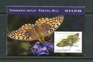 E150 Denmark 2007 butterflies COMPLETE BOOKLET MNH