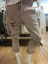 Made in Italy Freizeit Hose Jogger Joggingpant Gr. S M L rosa Stern Sweathose