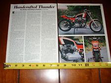 HARLEY DAVIDSON XR750 CUSTOM STREET BIKE - ORIGINAL 1982 ARTICLE