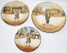 3 pieces ROYAL DOULTON dickensware Barnaby RUDGE / pauvre JO plat Bols bundle