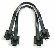 """byhands Genuine Leather Purse Handles & Bag Strap, Knot Style, Black, 20"""""""