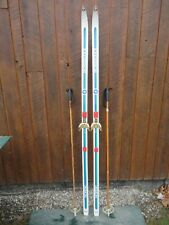 """New listing Great Ready to Use Cross Country 77"""" Rossignol 200 cm Skis + Poles"""