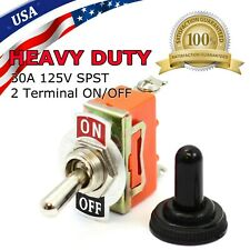 Toggle Switch Onoff Heavy Duty 15a 125v Spst 2 Terminal Car Boat Waterproof Org