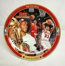 "Michael Jordan Return to Greatness THE 4TH TITLE Upper Deck Bradford 8"" Plate"