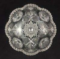 """J. Hoare & Co ABP Cut Glass No. 5134-284 Pattern 8"""" Bowl  - SIGNED 1 of 2"""