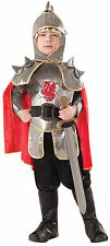 Kids Silver Knight Costume Medieval Fairy Tale Renaissance Child Size Lg 12-14