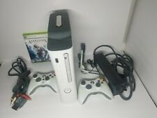 Microsoft Xbox 360 While Console With Power Brick, AV Cable,1 Game & Headset