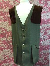 Holden. Men's Wool Checked Green Waistcoat. XXXL