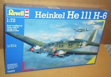 REVELL HEINKEL HE III H-6 1:72 SCALE GERMAN TORPEDO BOMBER AIRCRAFT MODEL KIT