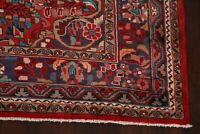 Vintage Traditional Floral Lilihan Hamedan Area Rug Hand-Knotted Wool RED 7'x11'