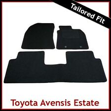 TOYOTA AVENSIS Estate Mk3 2009 onwards Tailored Carpet Car Floor Mats BLACK