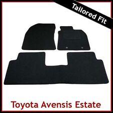 Toyota Avensis Estate Mk3 2009 2010 2011 onwards Tailored Carpet Car Mats BLACK