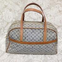 Louis Vuitton Marie Mini Lin Blue Denim Tote or Hand Bag 14in x 10in x 4.5in