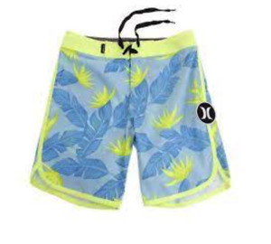 NWT$40 Hurley Small Boy's Boardshorts Swim 883411 Blue 2-way stretch size 5 6 7