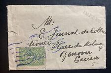 1918 Bogota Colombia Vintage Mini Cover To Genova Italy