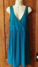 Old Navy Cotton Summer Sun Dress Empire Waist Casual Turquoise Blue Medium M