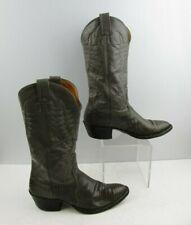 Men's Nocona Gray Lizard Skin Round Toe Western Boots Size: 8.5 D