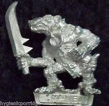 1998 Skaven Slave with Hand Weapon 1 Chaos Ratmen Citadel Warhammer Army Clanrat