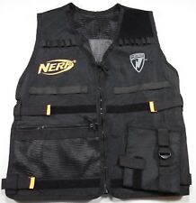 NERF N-Strike Elite Vest Kids Black Adjustable Tactical Ammo Clip Zipper Pocket