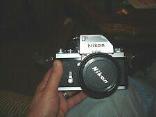 Nikon Nikkor 105mm F/2.5 Lens #783776 + Nikon F Camera #7227667