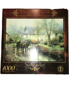Brand NEW Thomas Kinkade 1000 Piece Puzzle Sunday Outing Sealed by Ceaco 27 X 20
