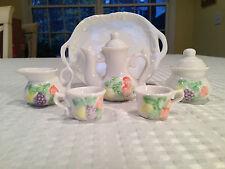 Vintage MINIATURE/CHILDRENS/DOLLHOUSE Ceramic/Porcelain 8-Piece TEA SET