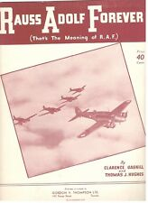 RAUSS ADOLF FOREVER (THAT'S THE MEANING OF R.A.F.) SHEET MUSIC-1941-VERY RARE!!