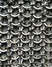 MS Chain mail Sheet Round Riveted with Flat Washer Chainmail SHEET Only SCA Larp