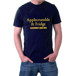 Applecrumble & Fridge T-shirt Diet Weight Apple Crumble Parody Birthday Tee