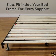 Solid Wood Slats for Bed Frame or Platform Beds Support Made in USA Queen size