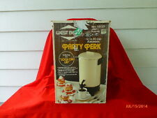 VINTAGE WEST BEND AUTOMATIC PARTY PERCOLATOR COFFEE MAKER PARTY PERK 12 - 30 CUP
