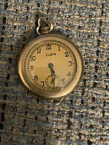 Antique Vintage early 1900's GOLD ELGIN POCKET WATCH 15 Jewels B&B Royal