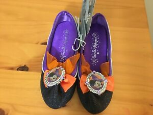 NWT Disney Store Minnie Mouse Witch Costume Dress Shoes Girls many sizes