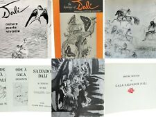 Salvador Dali Collection 6 Rare Books Drawings Graphic Art Nature Homage