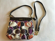 Coach Ashley Hand Drawn Scarf Print Hippie Crossbody Bag Purse Tote F20016 EUC