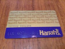 Obsolete Vintage Harrahs Casino Raised Leters Slot Card *Laughlin Neveda