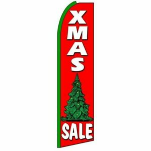 "Xmas Tree Sale 15""FT Tall Swooper Flag w/ Pole (FREE SHIPPING)"
