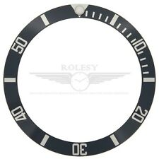 Aluminum Bezel Insert for Rolex Submariner 16610 16800 16800-81 Black/Silver