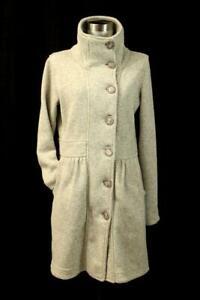 PATAGONIA Gray Long Cardigan Sweater Jacket Soft Knit Fleece Lined Modern MEDIUM