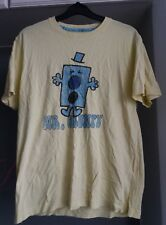 MEN'S YELLOW & BLUE MR GRUMPY NOVELTY TSHIRT SIZE M